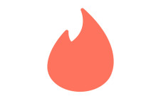The logo of the mobile dating app Tinder.